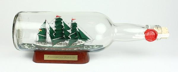 Alexander von Humboldt 700 ml runde Flasche Buddelschiff Museumsqualität