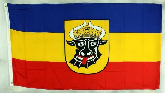 Mecklenburg Ochsenkopf Flagge Großformat 250 x 150 cm wetterfest