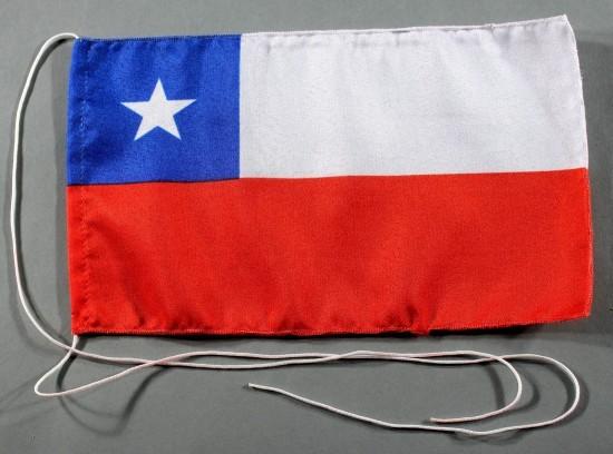Tischflagge Chile 25x15 cm optional mit Holz- oder Chromständer Tischfahne Tischfähnchen