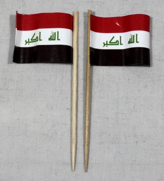 Party-Picker Flagge Irak Papierfähnchen in Spitzenqualität 50 Stück Beutel