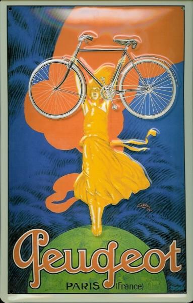 Blechschild Peugeot Fahrrad Paris Schild Nostalgieschild
