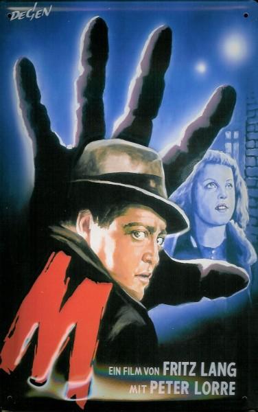 Blechschild Nostalgieschild M Filmplakat Fritz Lang Peter Lorre