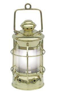 Nelson-Lampe Schiffslampe elektrisch 28cm Messing Nelsonlampe