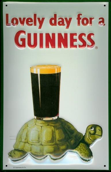 Blechschild Guinness Bier Schildkröte Turtle Bierglas nostalgisches Werbeschild retro Schild