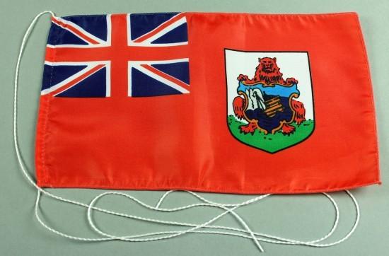 Tischflagge Bermudas 25x15 cm optional mit Holz- oder Chromständer Tischfahne Tischfähnchen