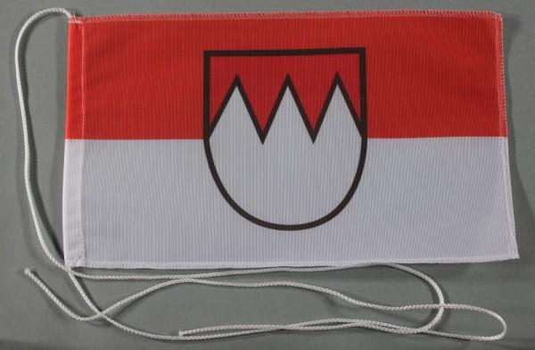 Tischflagge Franken 25x15 cm optional mit Holz- oder Chromständer Tischfahne Tischfähnchen