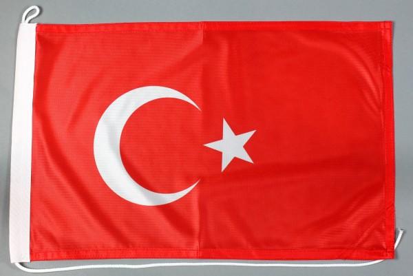 Bootsflagge Türkei 30x45 cm Motorradflagge Bootsfahne