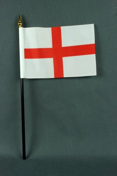 Kleine Tischflagge England 10x15 cm optional mit Tischfähnchenständer