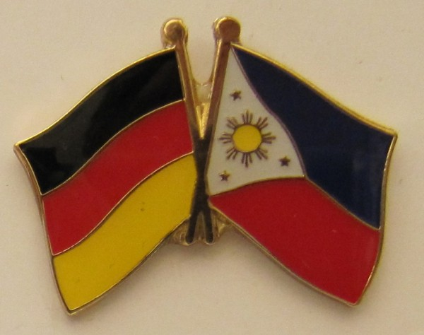 Philippinen / Deutschland Freundschafts Pin Anstecker Flagge Fahne Nationalflagge