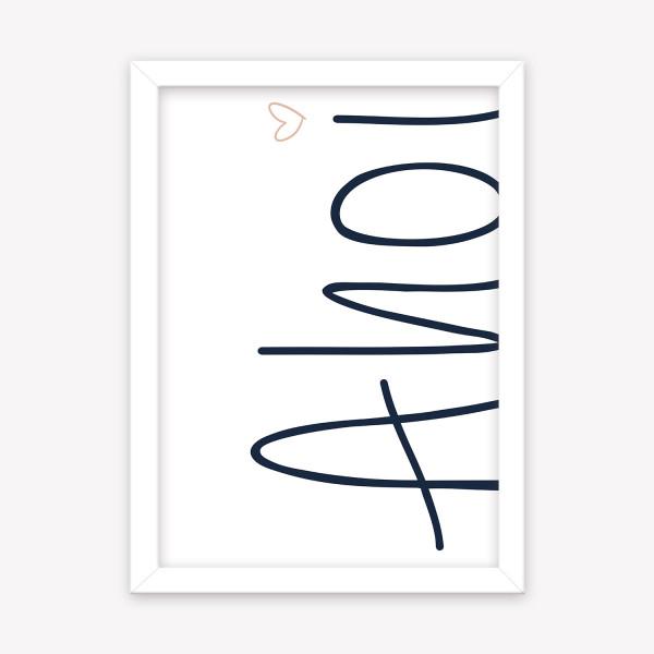 Poster Ahoi Herz 160 g/m² Kunstdruck Wandbild A4 | A5 | A6