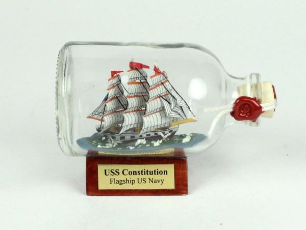 Constitution USA Mini Buddelschiff 50 ml ca. 7,2 x 4,5 cm Flaschenschiff