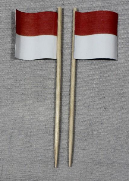 Party-Picker Flagge Solothurn Kanton Schweiz Papierfähnchen in Spitzenqualität 50 Stück Beutel