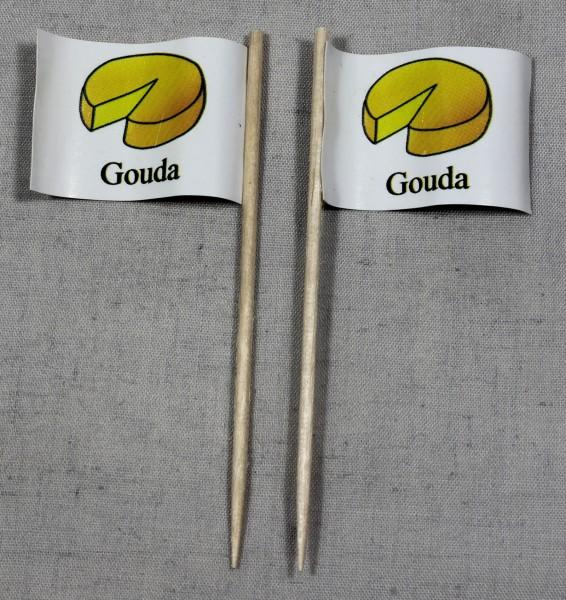 Party-Picker Flagge Gouda Käse Papierfähnchen in Spitzenqualität 50 Stück Beutel