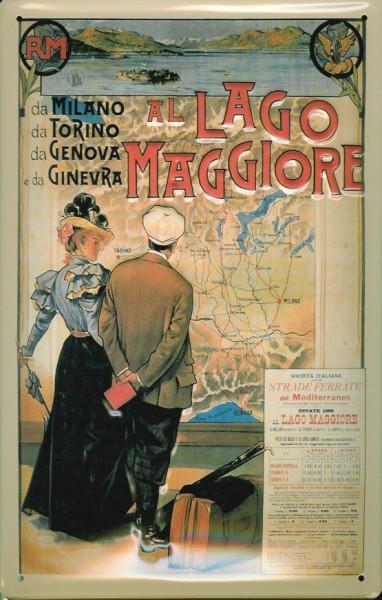 Blechschild Nostalgieschild Lago Maggiore Italien