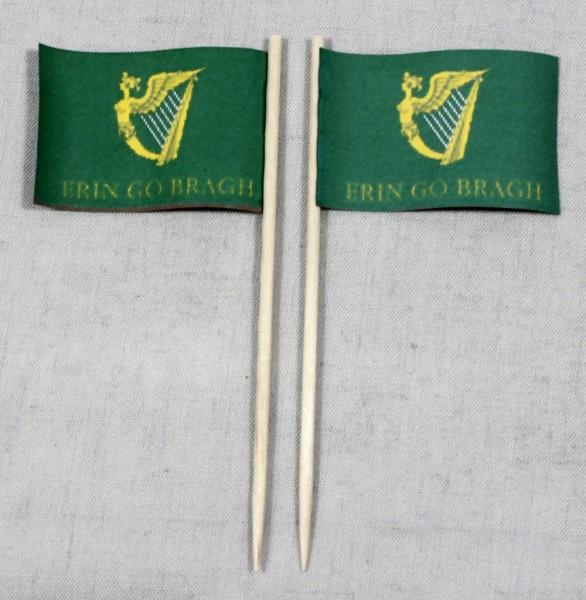 Party-Picker Flagge Erin go Bragh Irland Papierfähnchen in Spitzenqualität 50 Stück Beutel