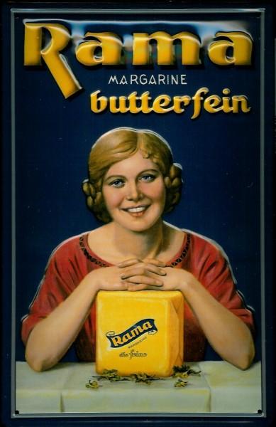 Blechschild Rama Margarine butterfein Würfel Milch Margarinewürfel Schild
