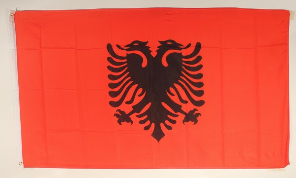 Flagge Fahne : Albanien Albanienfahne Nationalflagge Nationalfahne