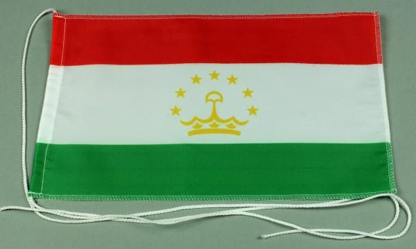 Tischflagge Tadschikistan 25x15 cm optional mit Holz- oder Chromständer Tischfahne Tischfähnchen