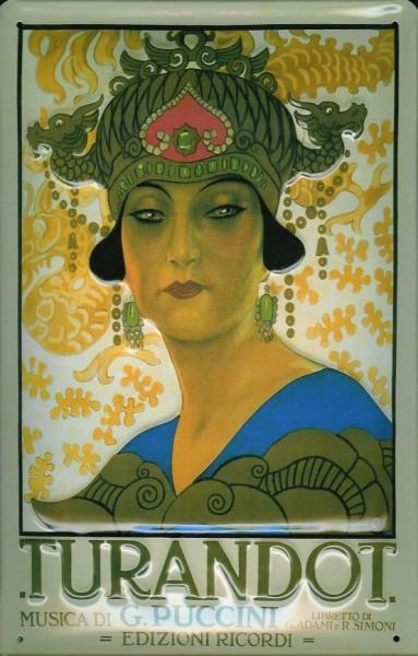 Blechschild Nostalgieschild Turandot Puccini Oper Plakat