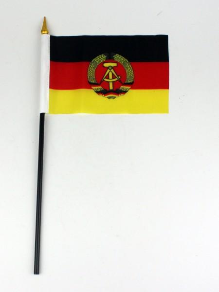 Kleine Tischflagge DDR 10x15 cm optional mit Tischfähnchenständer