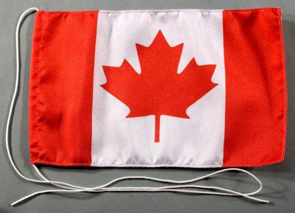 Tischflagge Kanada 25x15 cm optional mit Holz- oder Chromständer Tischfahne Tischfähnchen