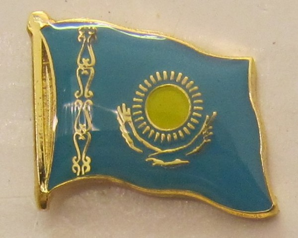 Kasachstan Pin Anstecker Flagge Fahne Nationalflagge