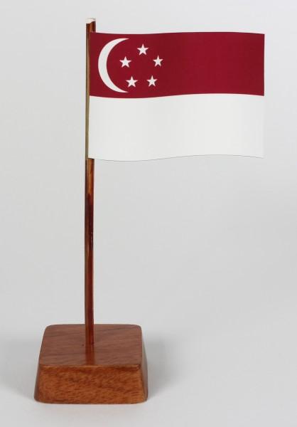 Mini Tischflagge Singapur Höhe 13 cm Tischfähnchen
