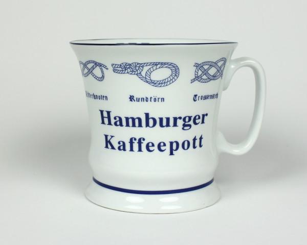 Hamburger Kaffeepott mit Seemannsknoten hoch Kaffeebecher Kaffeetasse Kaffee Pott