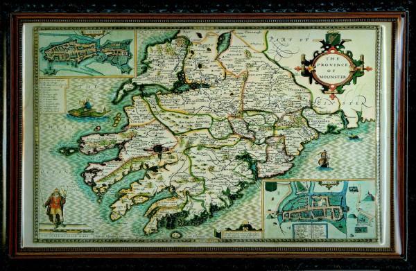 Blechschild Nostalgieschild Province of Mounster Schild Ireland Landkarte Irland