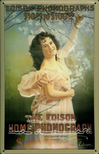 Blechschild Nostalgieschild The Edison Home Phonograph (4)