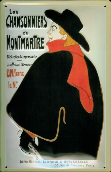 Blechschild Nostalgieschild Les Chansonniers de Montmartre Paris