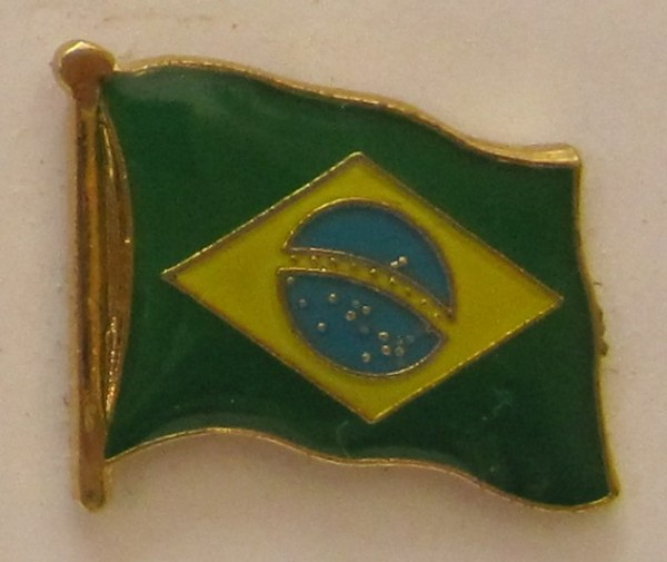 Brasilien Pin Anstecker Flagge Fahne Nationalflagge
