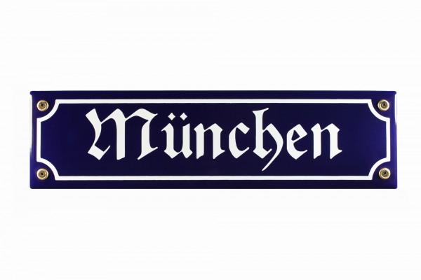 Strassenschild München 30x8 cm Email Strassen Schild Andenken Emaille