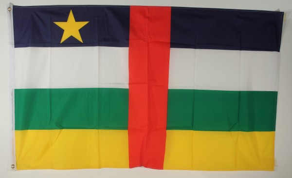 Flagge Fahne : Zentralafrikanische Republik Nationalflagge Nationalfahne