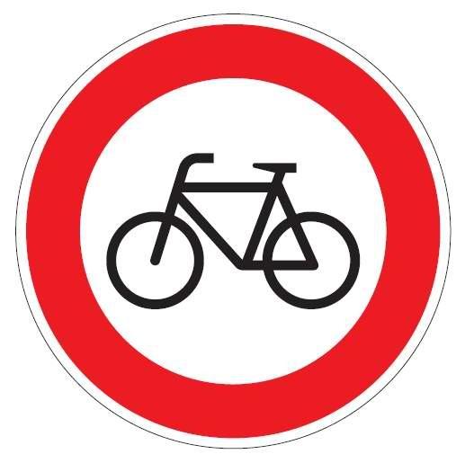 Verkehrsschild / Verkehrszeichen Verbot für Radfahrer 420 mm rund Aluminium reflektierend Typ 1 VZ
