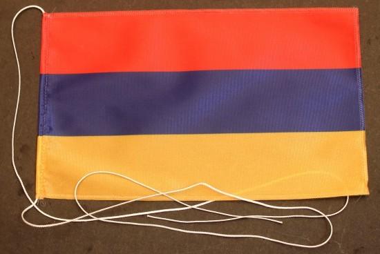 Tischflagge Armenien 25x15 cm optional mit Holz- oder Chromständer Tischfahne Tischfähnchen