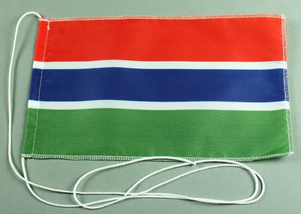 Tischflagge Gambia 25x15 cm optional mit Holz- oder Chromständer Tischfahne Tischfähnchen