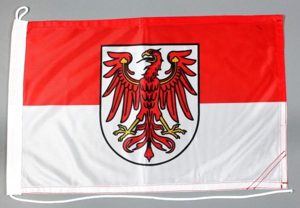 Bootsflagge Brandenburg 30x45 cm Motorradflagge Bootsfahne