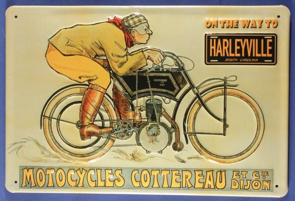 Blechschild Harleyville Motorcycle Oldtimer Motorrad Nostalgieschild Schild