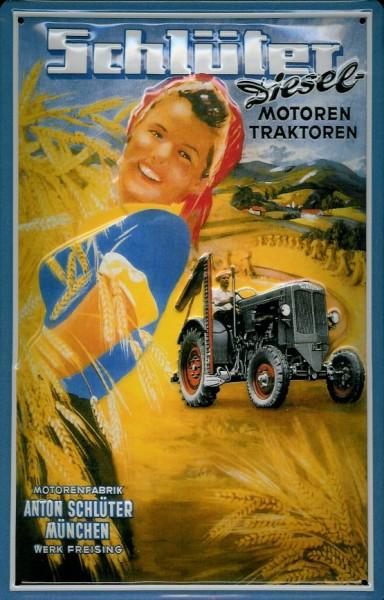 Blechschild Schlüter Traktor Nostalgieschild Schild