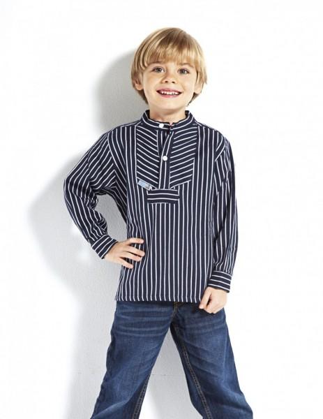 Kinder Fischerhemd - Basic - breitgestreift Kinderkleidung Hemd alle Größen