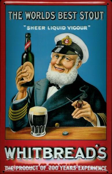 Blechschild Whitbread's Bier Kapitän Seemann Schild retro Nostalgieschild