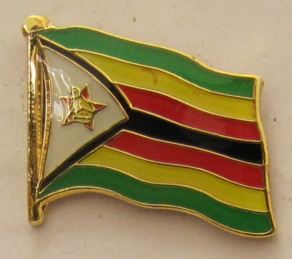 Simbabwe Pin Anstecker Flagge Fahne Nationalflagge