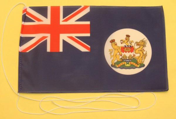 Tischflagge Hong Kong vor 1997 25x15 cm optional mit Holz- oder Chromständer Tischfahne Tischfähnche