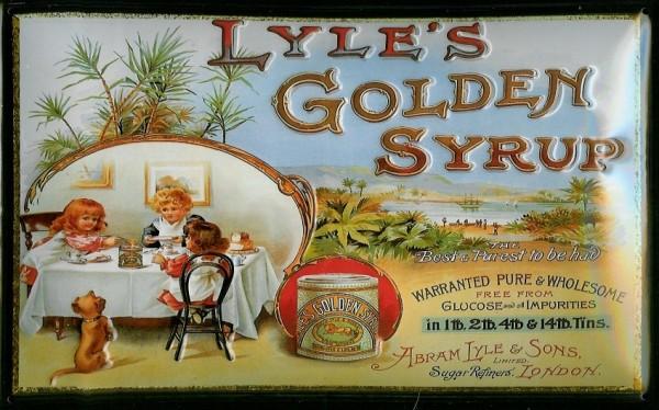 Blechschild Lyle's Golden Syrup Sirup London retro Schild Nostalgieschild