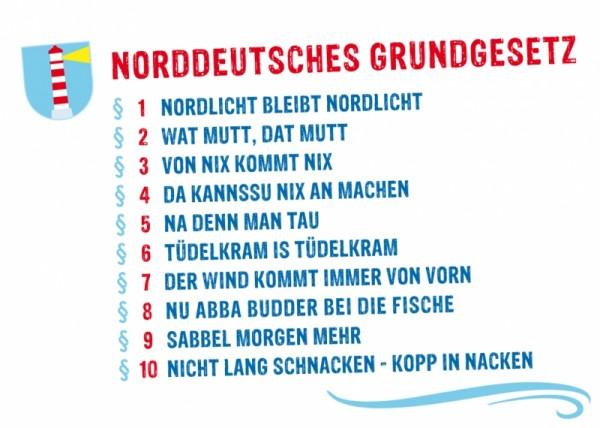 Postkarte Norddeutsches Grundgesetz