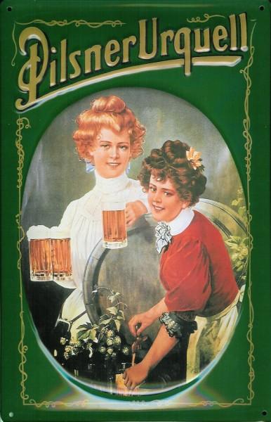 Blechschild Pilsner Urquell Bier Schild retro Kneipenschild