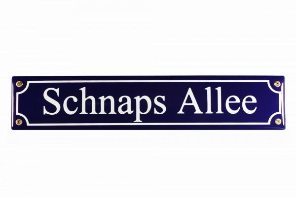 Strassenschild Schnaps Allee 40x8 cm Email Biergarten Strassen Schild Emaille