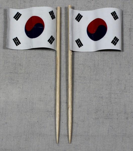 Party-Picker Flagge Südkorea Papierfähnchen in Spitzenqualität 50 Stück Beutel