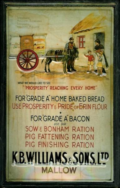 Blechschild Williams Pferd Bread Bacon Brot Schinken Schild Reklameschild